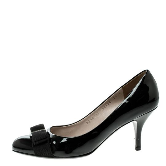 Salvatore Ferragamo Patent Leather Leather Black Pumps Image 4