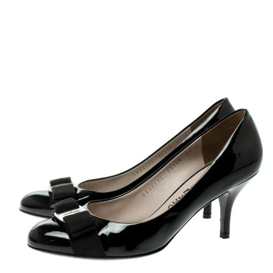 Salvatore Ferragamo Patent Leather Leather Black Pumps Image 5