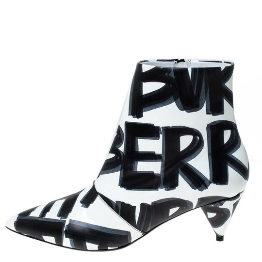 Burberry Leather Wilsbeck Ankle White Boots Image 1