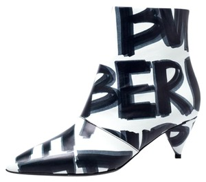 Burberry Leather Wilsbeck Ankle Black Boots