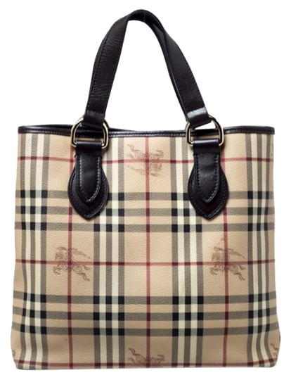 Preload https://img-static.tradesy.com/item/26363131/burberry-beigebrown-haymarket-check-beige-pvc-and-leather-tote-0-2-540-540.jpg