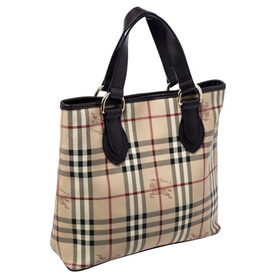 Burberry Canvas Leather Tote in Beige Image 3