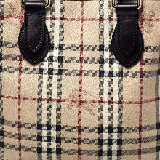 Burberry Canvas Leather Tote in Beige Image 8