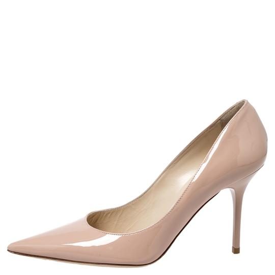 Jimmy Choo Patent Leather Pointy Toe Beige Pumps Image 1