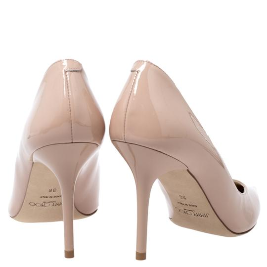 Jimmy Choo Patent Leather Pointy Toe Beige Pumps Image 3