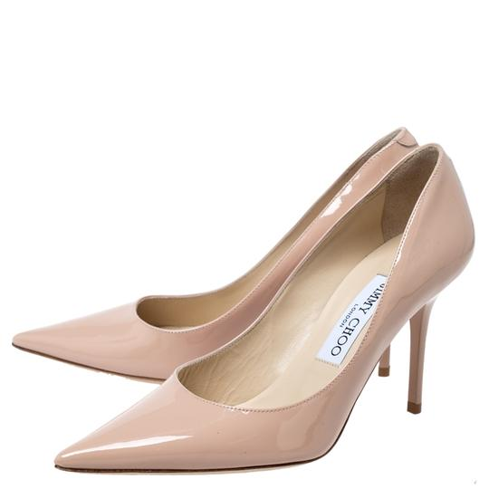 Jimmy Choo Patent Leather Pointy Toe Beige Pumps Image 4