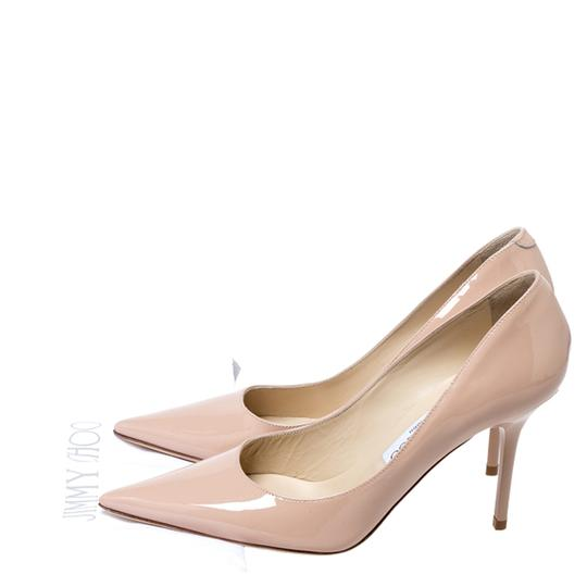 Jimmy Choo Patent Leather Pointy Toe Beige Pumps Image 7