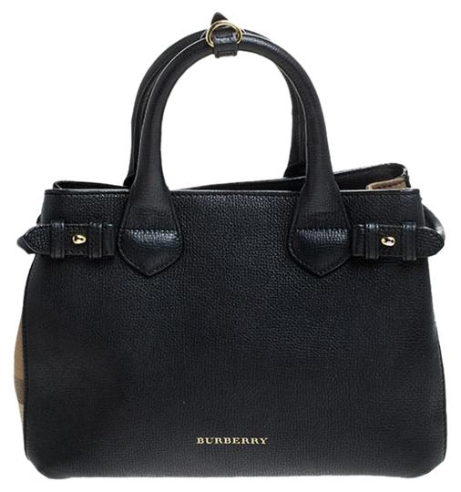 Preload https://img-static.tradesy.com/item/26363150/burberry-house-check-fabric-small-banner-black-leather-and-canvas-tote-0-2-540-540.jpg