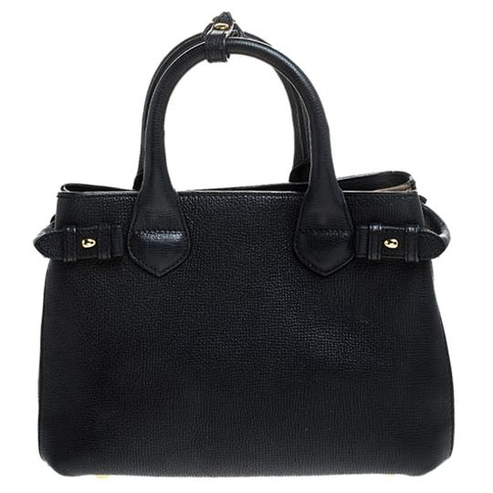 Burberry Leather Canvas Tote in Black Image 1