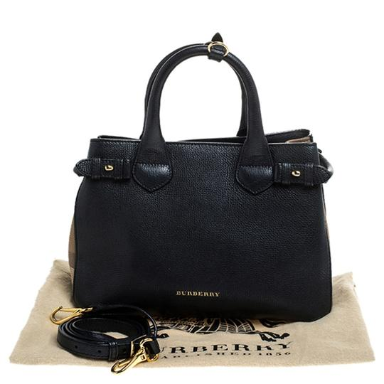 Burberry Leather Canvas Tote in Black Image 10