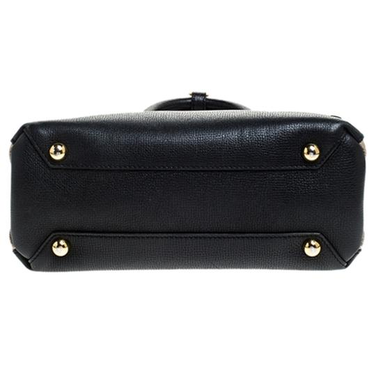 Burberry Leather Canvas Tote in Black Image 4