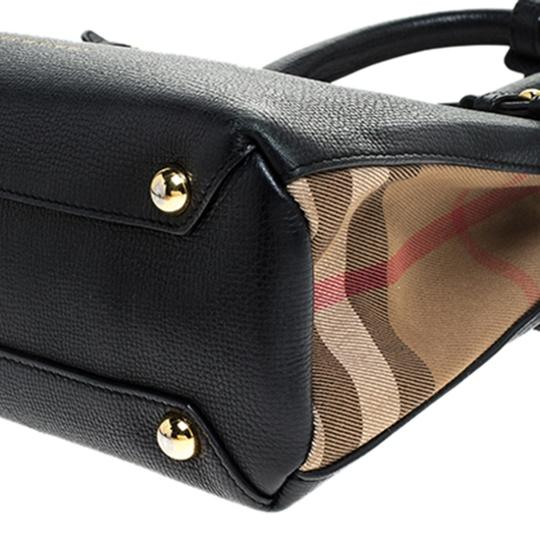 Burberry Leather Canvas Tote in Black Image 6