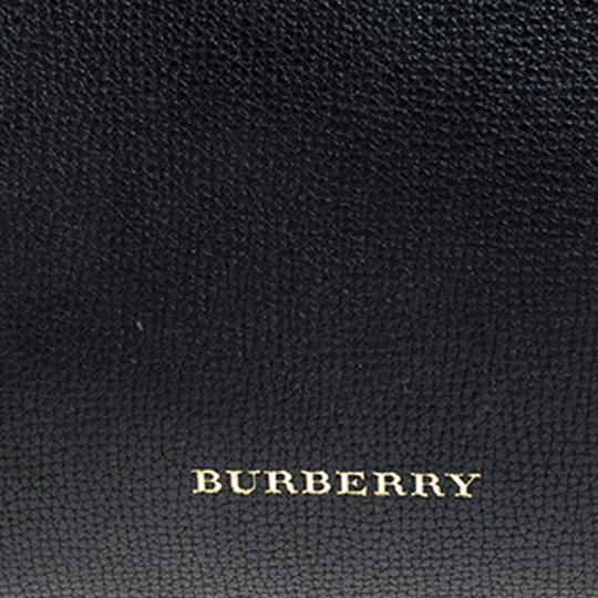 Burberry Leather Canvas Tote in Black Image 8