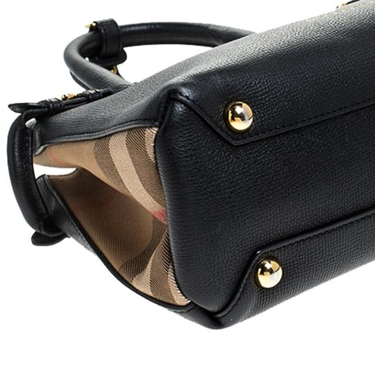 Burberry Leather Canvas Tote in Black Image 9