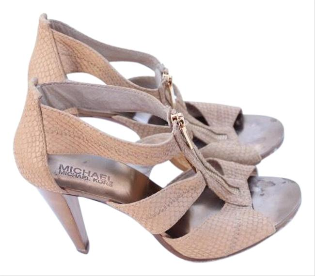 Item - Beige Zipper Sandals Size US 8 Regular (M, B)