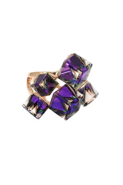 Item - Purple Candy Square Crystal Ring