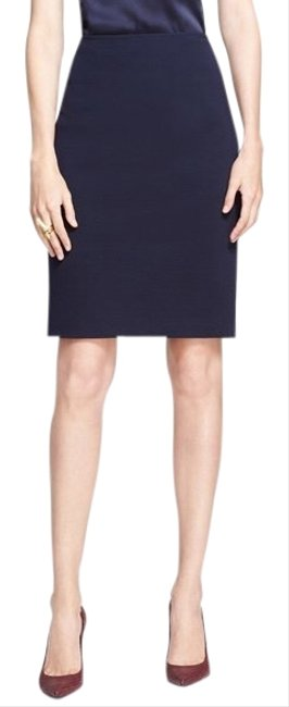 Item - Navy Collection Milano Knit Pencil Skirt Size 8 (M, 29, 30)