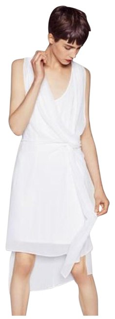 Item - White/Ivory W W&b Collection Flows Sleeveless Mid-length Short Casual Dress Size 8 (M)
