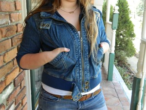 Apollo Jean Cute Fashion Musthave Awesome Chic Casual Modern Buttons Comfortable Formal Dark blue denim Jacket
