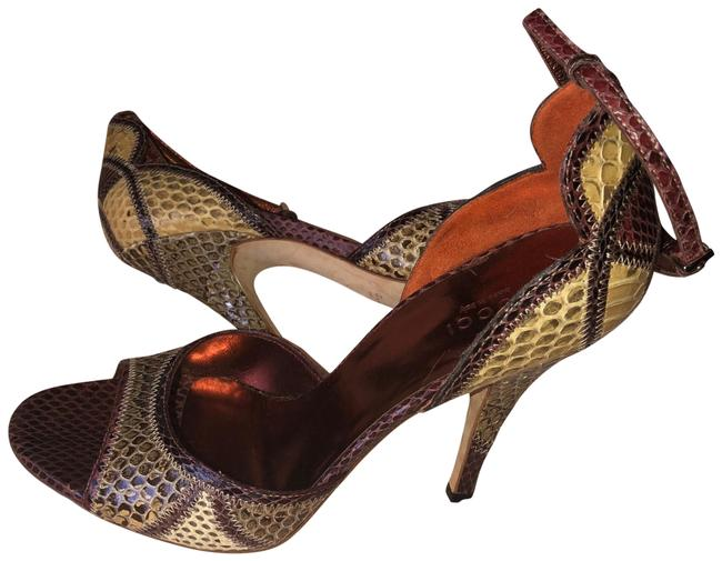 Item - Multicolored Scalloped Python Formal Shoes Size US 8 Regular (M, B)
