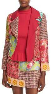 Boutique Moschino Tweed Patchwork Motorcycle Jacket