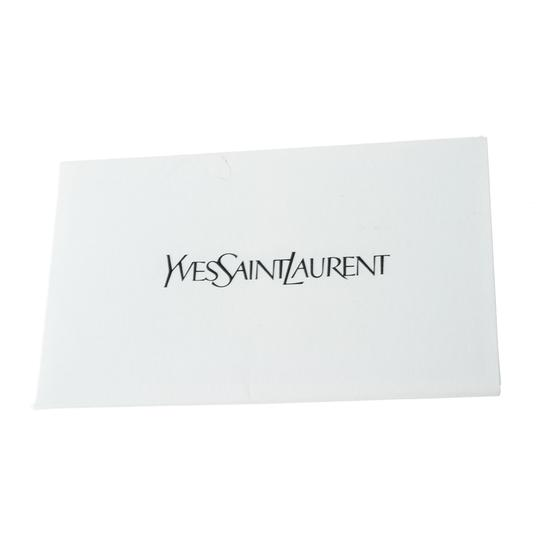 Saint Laurent Satin Leather Burgundy Clutch Image 3