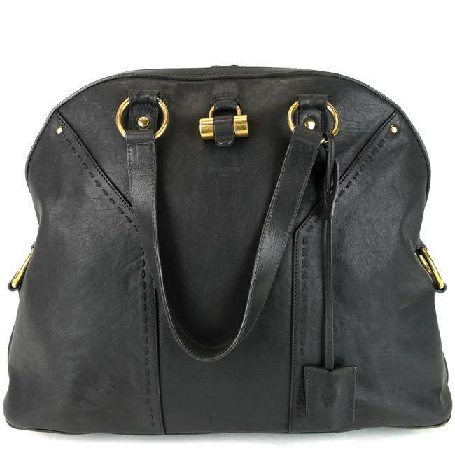 Item - Muse Large Gray Leather Satchel