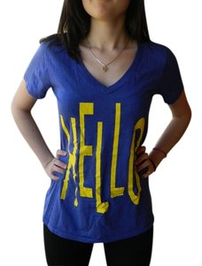 Forever 21 Hello Cute Quirky T Shirt Dark Purple