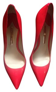 Sophia Webster Coco Chic Designer Neon Pink Pumps