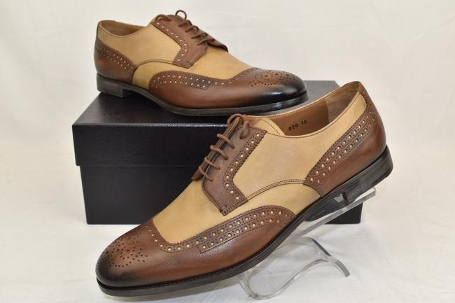 Item - Brown 2ef020 Burnished Tan Leather Brogue Lace Up Oxfords 10 Us 11 Shoes
