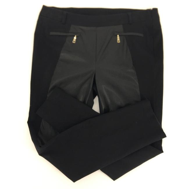 Item - Black with Gold Accents Faux Leather Skinny Jeans Size 12 (L, 32, 33)