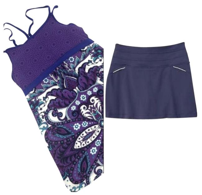 Item - Purple 2 Pieces   Tank Top (Paisley Strappy) and Upf 50+ Skirt/Shorts Set Skirt Size 00 (XXS, 24)