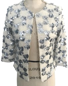 Skies Are Blue Sequin cream and silver Jacket