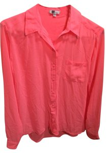 KUT from the Kloth Button Down Shirt Pink