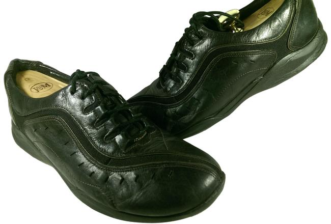 Item - Black W/Brown Stripe Accents Wave Women's Leather Lace-up Training 9.5w Sneakers Size US 9.5 Wide (C, D)