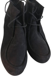 DV by Dolce Vita Suede Look Wedge Heel Lace-up Run Small Black Boots