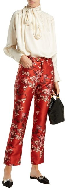 Item - Red Multiple Made In Columbia Corajida Satin Pants Size 10 (M, 31)
