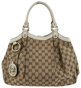 Gucci Brown/Beige Gg Canvas Sukey Hobo Bag