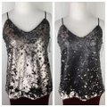 1.STATE Nordstrom's Dramatic Pause Sequin Tank Silver Black Top 1.STATE Nordstrom's Dramatic Pause Sequin Tank Silver Black Top Image 12