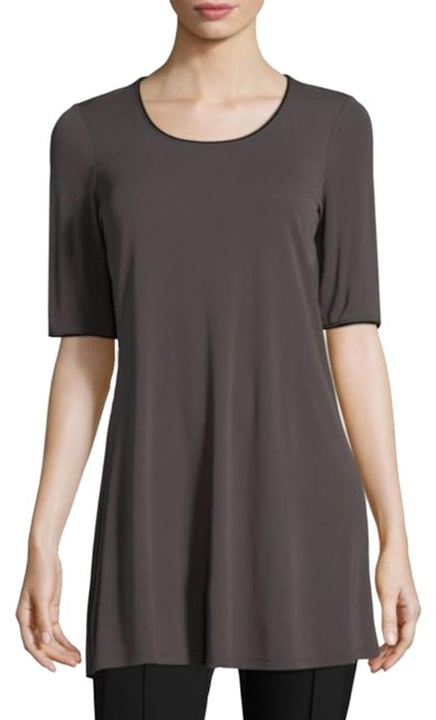"Eileen Fisher Rye Jersey "" Scoop Neck Elbow Sleeve In Stretch Silk Tunic Size 10 (M) Eileen Fisher Rye Jersey "" Scoop Neck Elbow Sleeve In Stretch Silk Tunic Size 10 (M) Image 1"