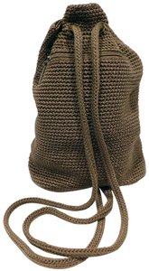 The Sak Crochet Handmade Drawstring Backpack