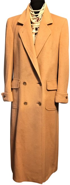 Item - Tan Camel Wool Vintage Double Breasted Long Coat Size 12 (L)