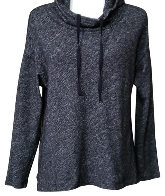 Eileen Fisher Mock Neck; Hoodie; Heathered Black Sweater Eileen Fisher Mock Neck; Hoodie; Heathered Black Sweater Image 1