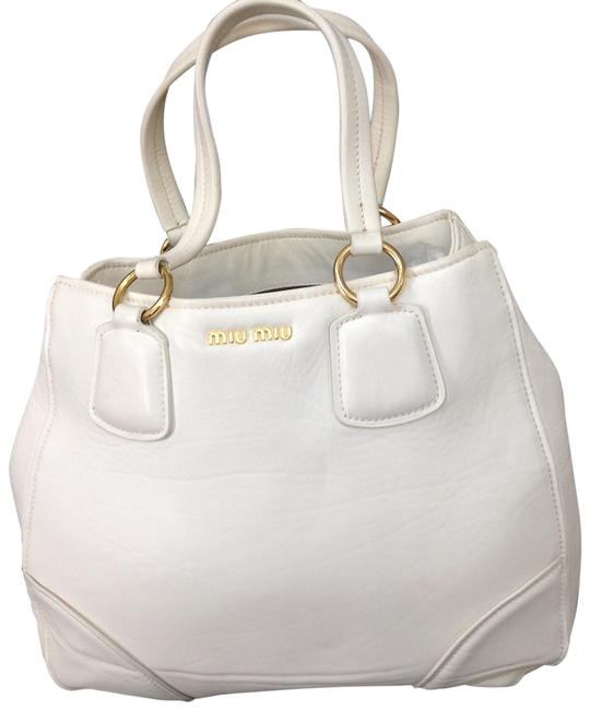 Item - Large Off White Leather Tote