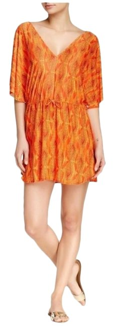 Item - Orange Paula Hermanny Menfis Lina Caftan Cover-up/Sarong Size 8 (M)