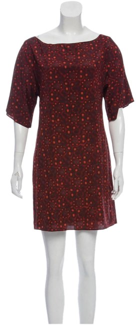 Item - Red/Burgundy Holiday Silk Mini Short Casual Dress Size 4 (S)