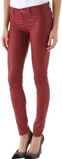 Item - Red Coated Denim Skinny Jeans Size 28 (4, S)