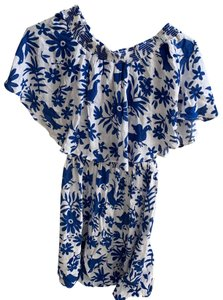 Show Me Your Mumu short dress white and blue on Tradesy