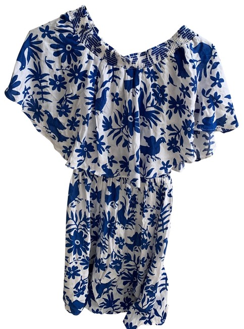 Show Me Your Mumu short dress white and blue on Tradesy Image 0