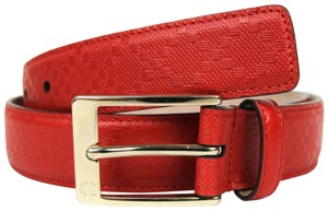 Gucci Diamante Leather Belt with Square Buckle Red 105/42 345658 6523